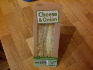 A Cheese and Onion Sandwich